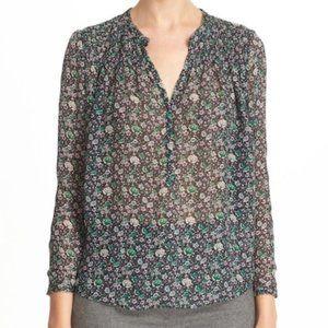 Rebecca Taylor Lavish Garden Chiffon Silk Blouse